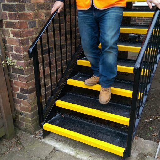 GRP Stair Tread Covers Application