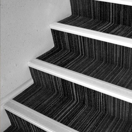 aluminium stair nosing grey application