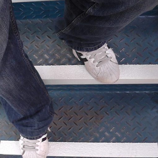 grp stair nosings white