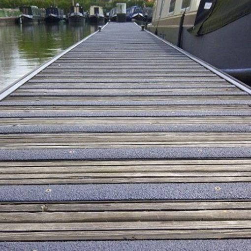 grp decking strips application