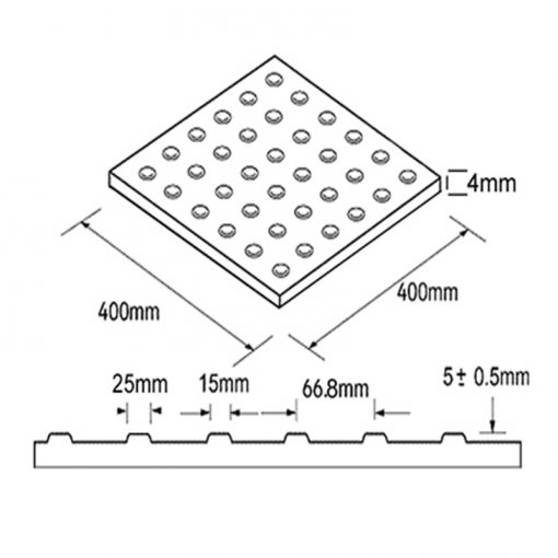 GRP Corduroy Tactiles Diagram
