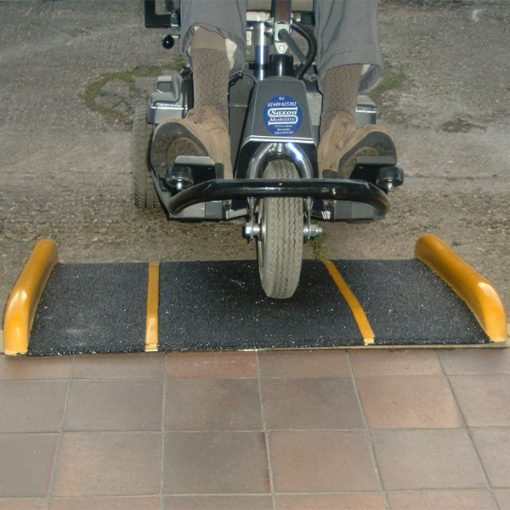 standard fibreglass access ramp application