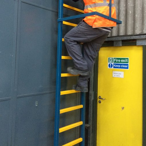 Ladder Rung Covers Yellow